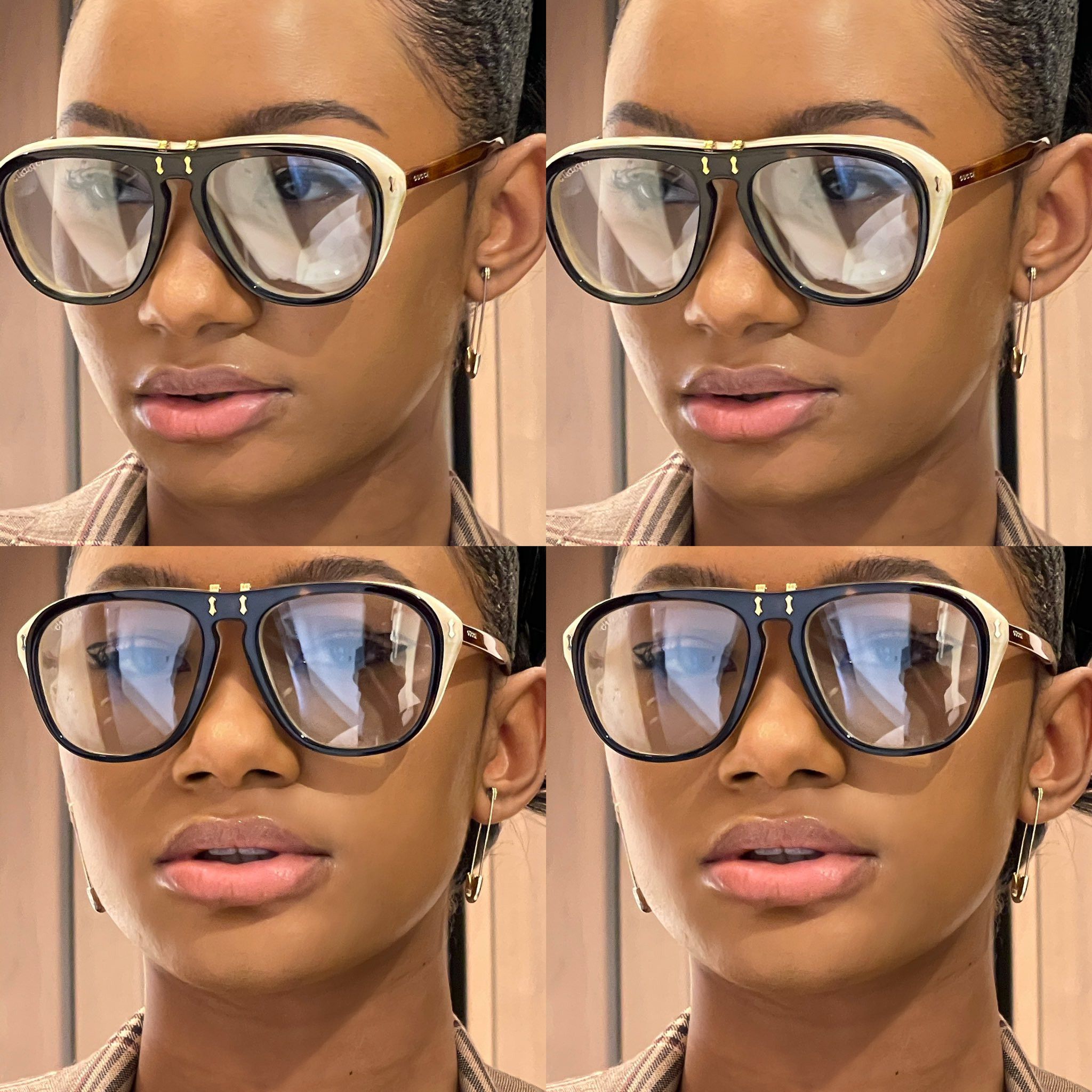 Temi Otedola rocks 14 Karat Gold ?Safety Pin? earrings worth N114K in new photos