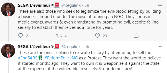 Lekki shooting: Nigerians reacts to Segalink