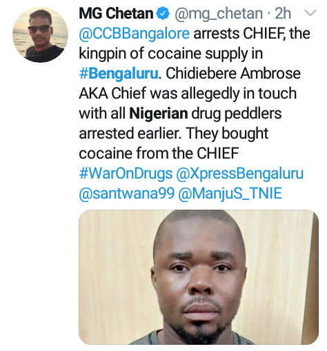 Nigerian cocaine kingpin