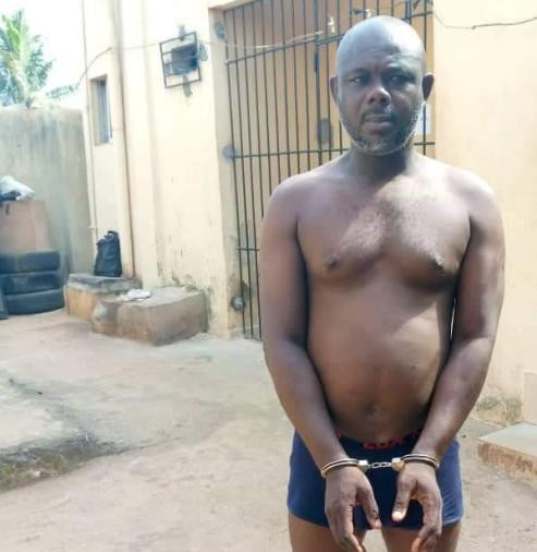 Photo of Delta LG chairman in handcuffs and wearing only underwear after his arrest over attack on private home of Commissioner