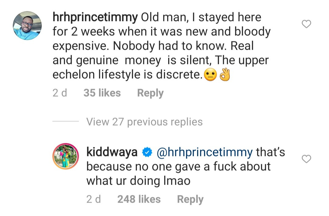 Kiddwaya hits back at people criticising his father Terry Waya for showing off on Instagram