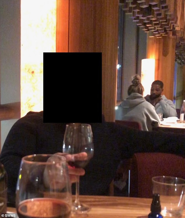 Tristan Thompson is spotted enjoying dinner with female estate agent