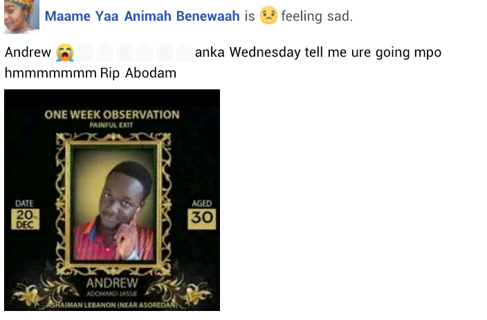 """""""My guy has been stressing for a job for the past 3 years"""" - Friends mourn man who died a day after he got a job"""