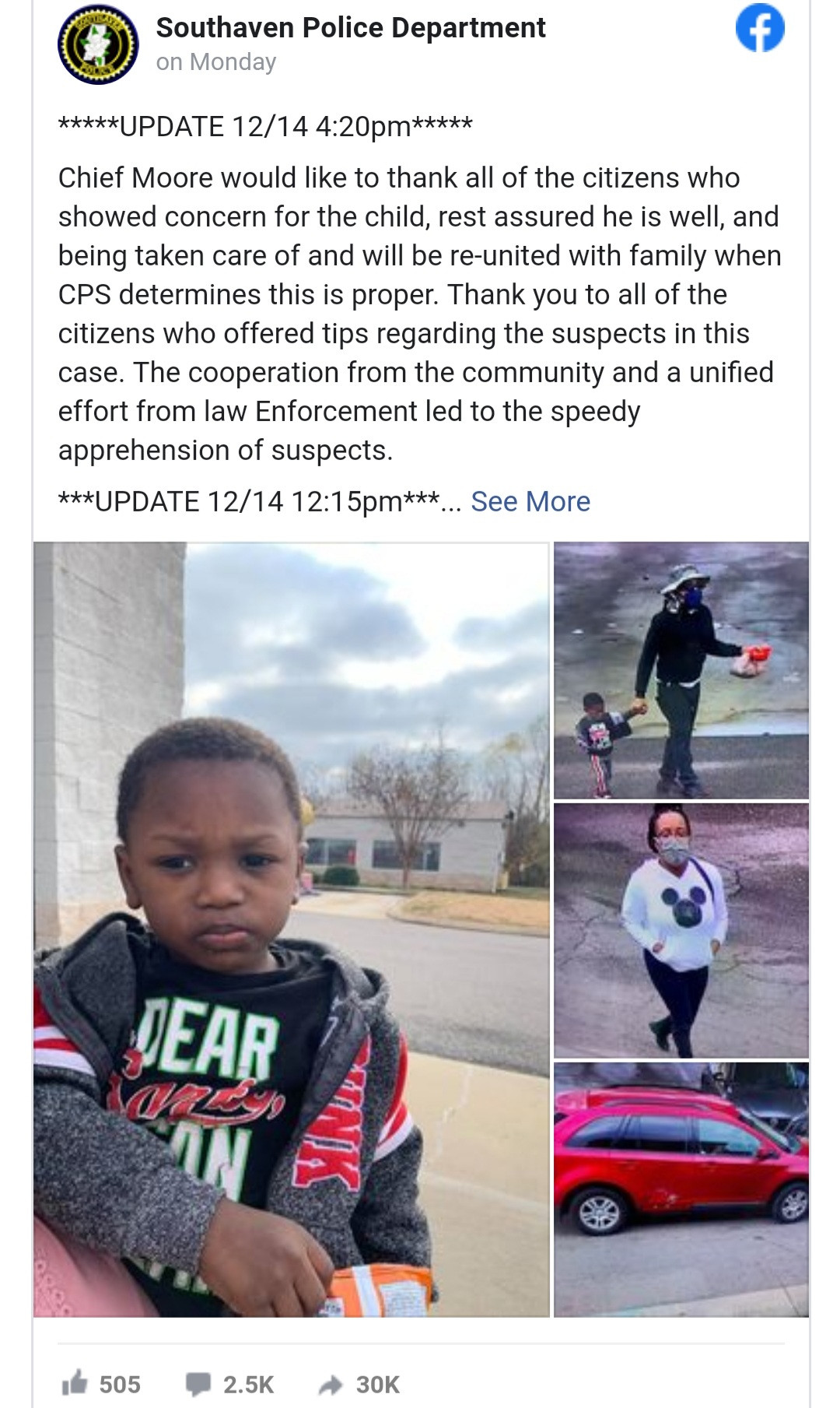 Woman claims 2-year-old boy abandoned in a goodwill store as her son; says he was kidnapped by a man she knows