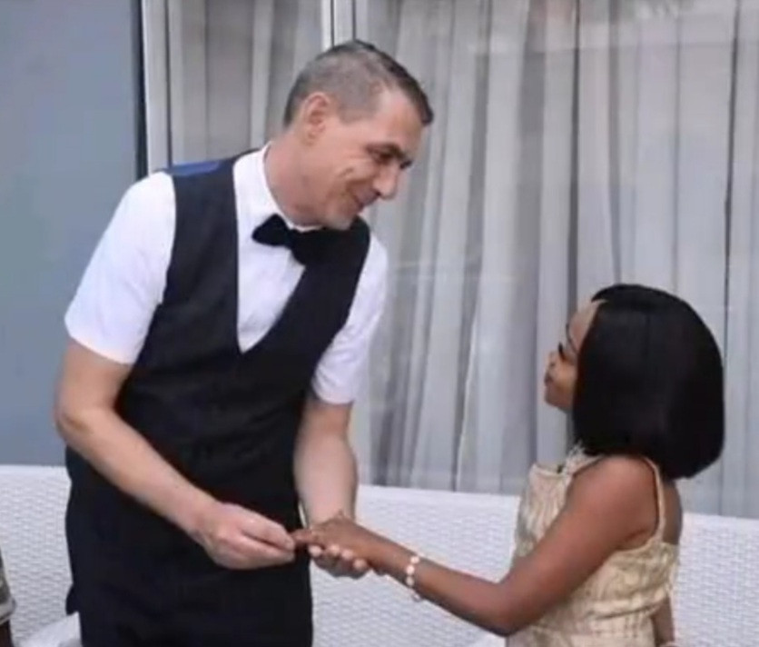 Diminutive Nollywood actress Miss Koikoi weds her White lover (photos)