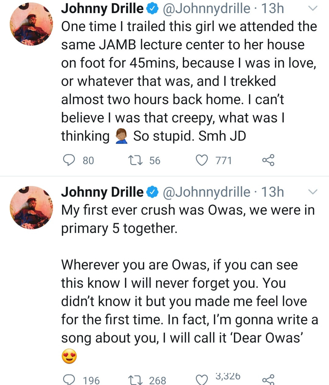 Singer Johnny Drille opens up about the crazy things he