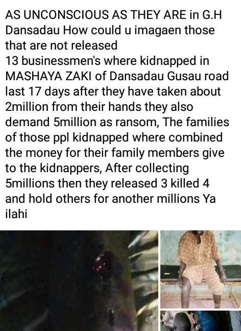 Graphic: Bandits kill three Zamfara traders, release 9 others after collecting N6m and brand new motorbikes as ransom