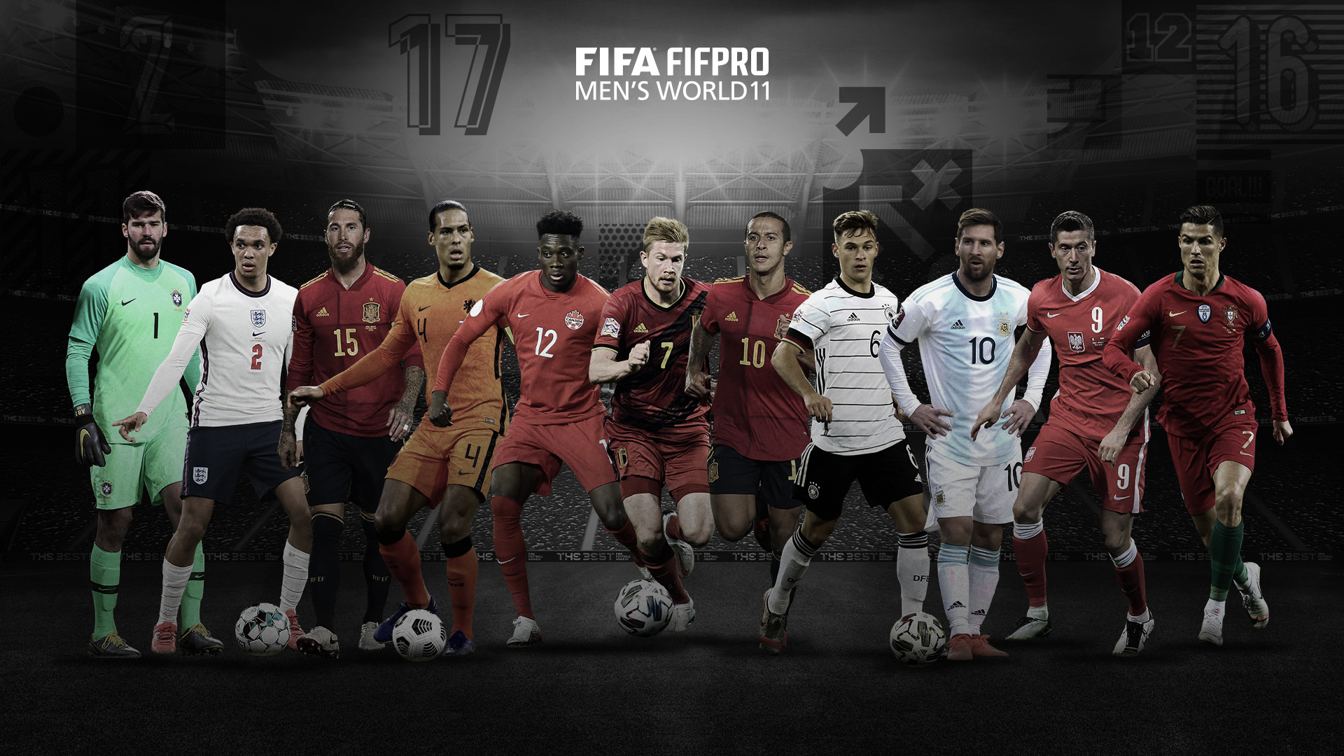 Messi, Ronaldo and Lewandowski named in FIFA FIFPro Men