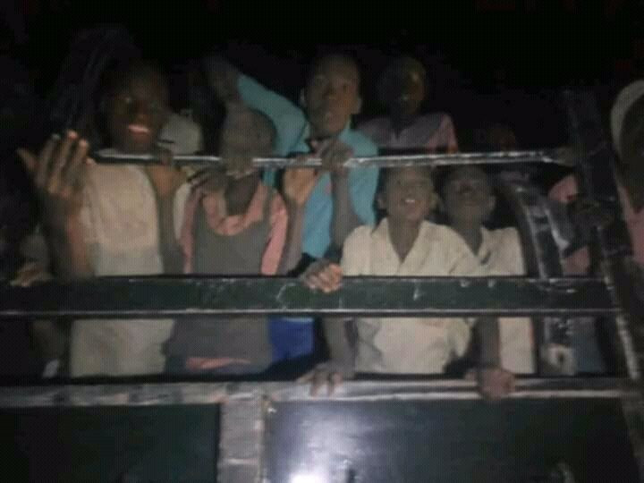 Photos of the Kankara school boys being conveyed home after their release