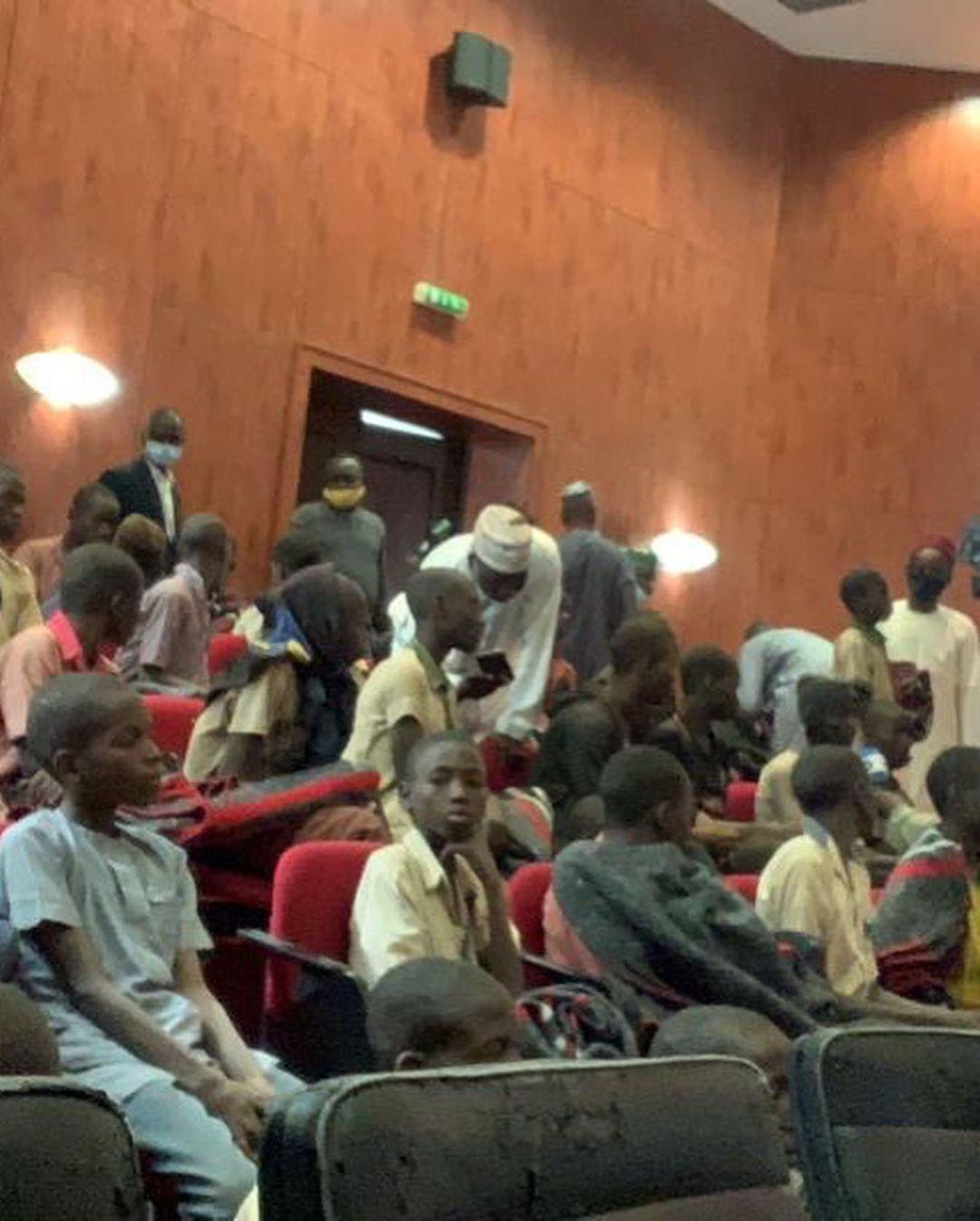 Released Kankara schoolboys arrive Katsina from Zamfara (photos/Video)