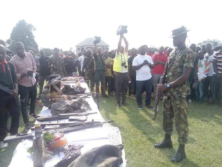 557 youths renounce cultism in Rivers, surrender weapons, charms to police