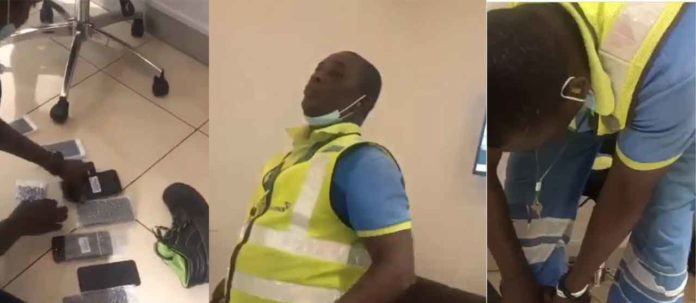 Ghanaian airport staff nabbed after stealing from travelers (video)
