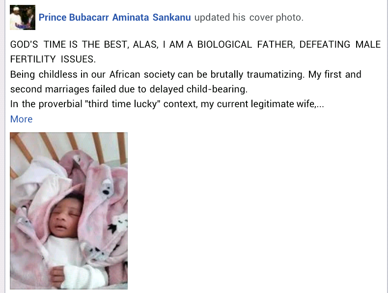 """""""I defeated male fertility issues"""" - Gambian man with low sperm count shares his inspiring story as he welcomes first biological child after two failed marriages"""