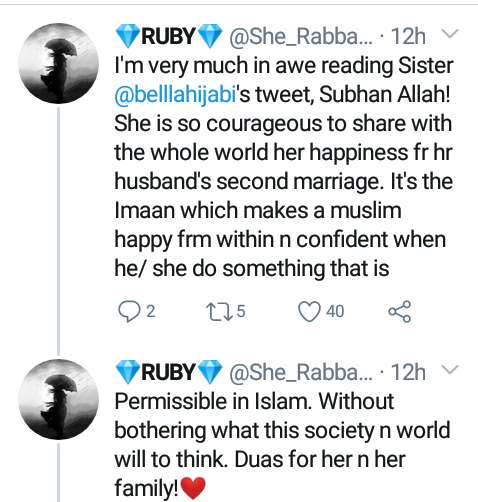"""""""May Allah protect us from jealousy and the evil eye"""" - Woman celebrates as her husband marries a second wife"""