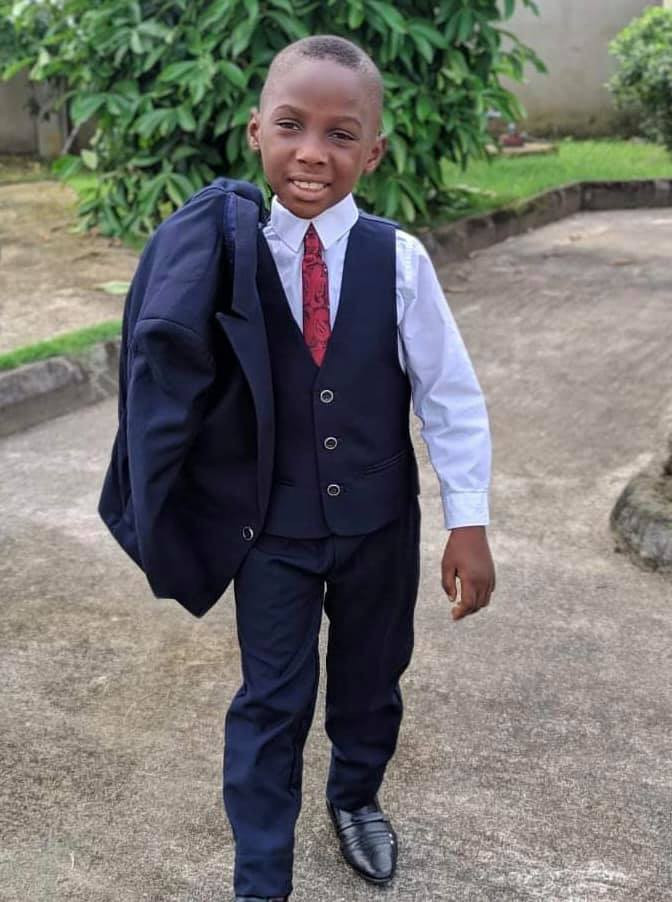 Little boy who was branded a witch and left to starve to death 5 years ago, becomes best man at a wedding in Akwa Ibom