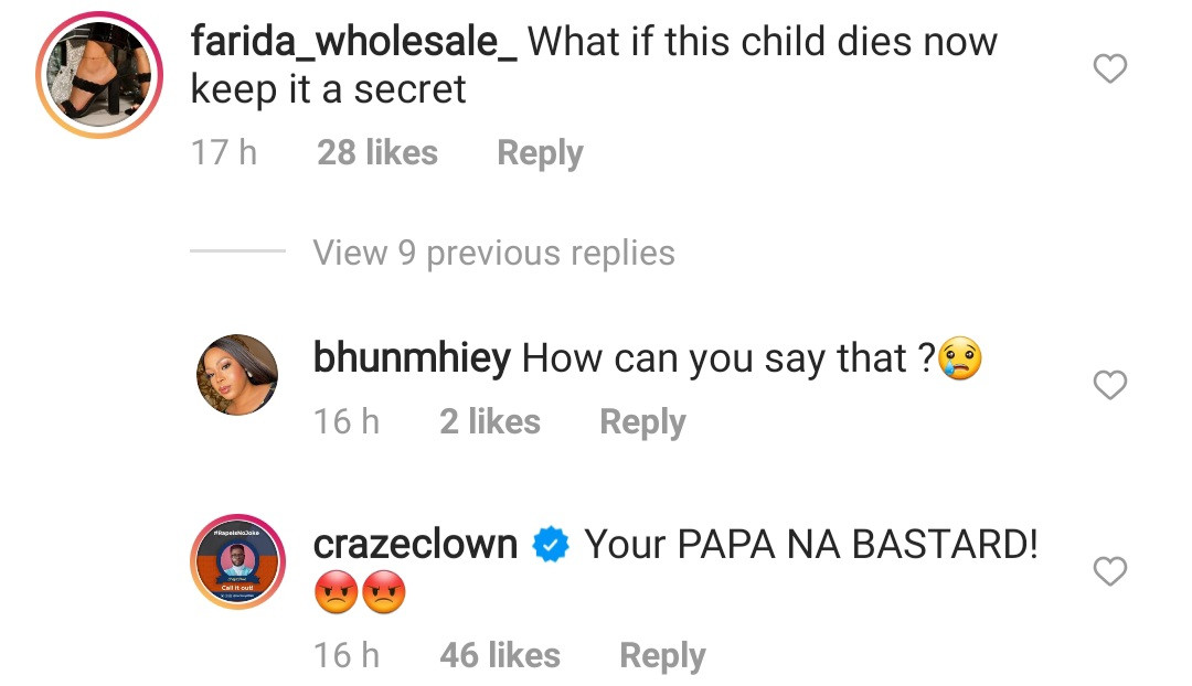 Comedian Craze Clown blasts IG user who wished evil on his unborn child