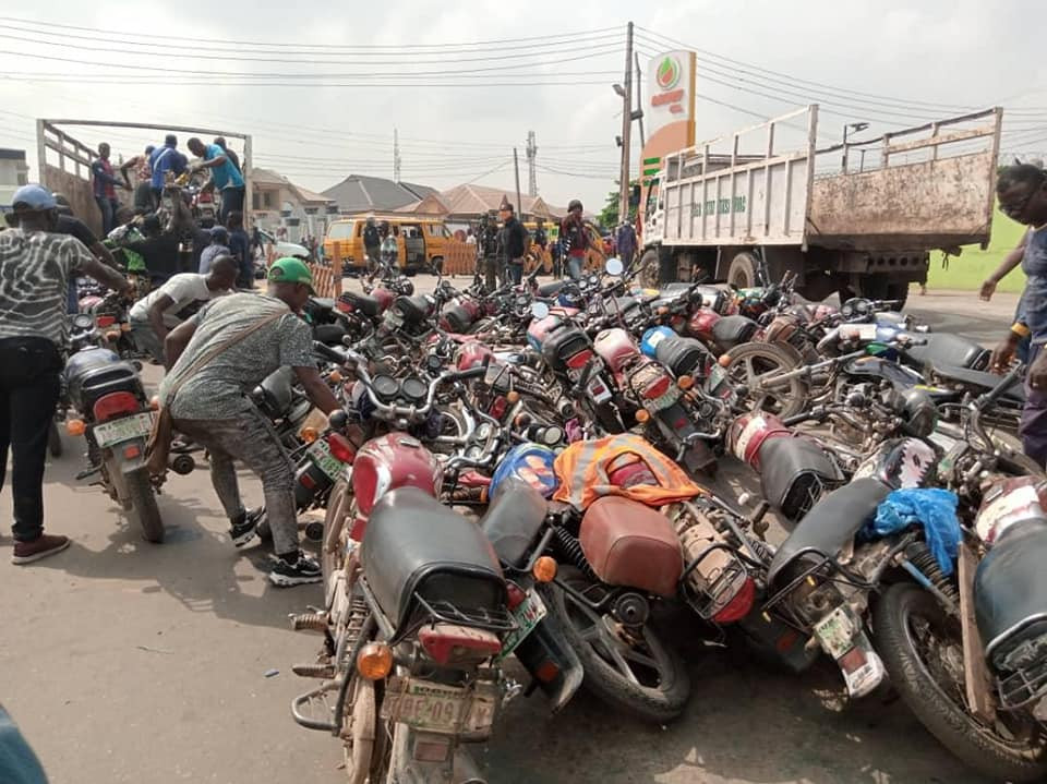 10 persons arrested for attacking Lagos Taskforce officers as Govt impounds 96 commercial motorcycles