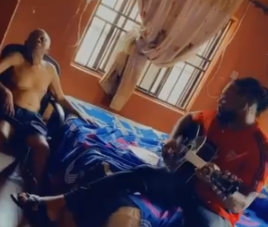 Flavour shares heart-melting video of himself serenading his aged father