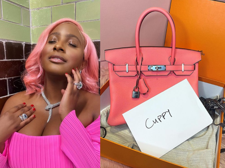 DJ Cuppy gets Birkin bag on second date after getting luxury wristwatch on first date (photo)