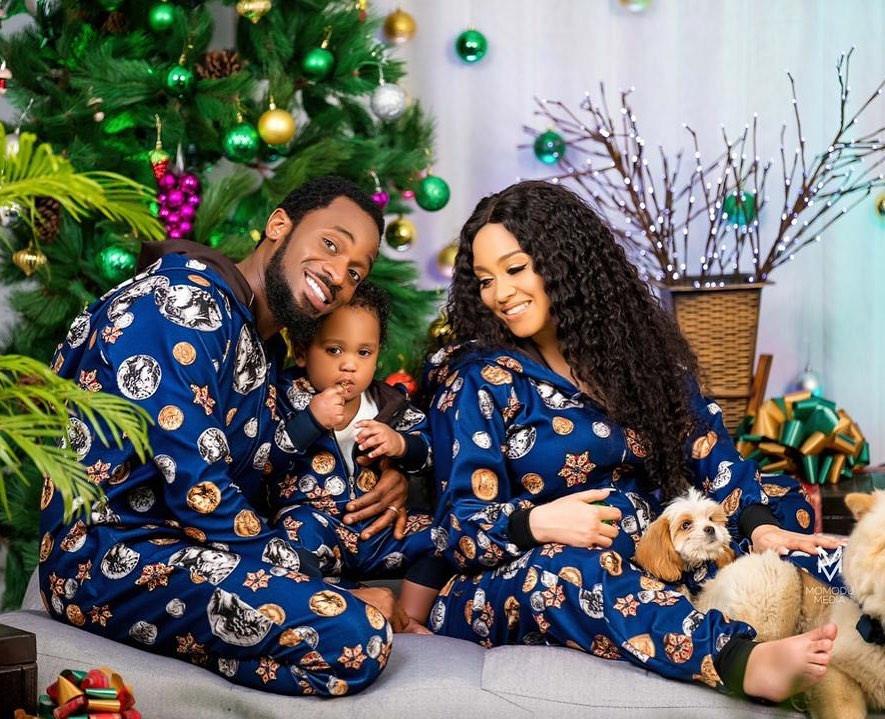 Adorable Christmas photos of Dbanj and his family