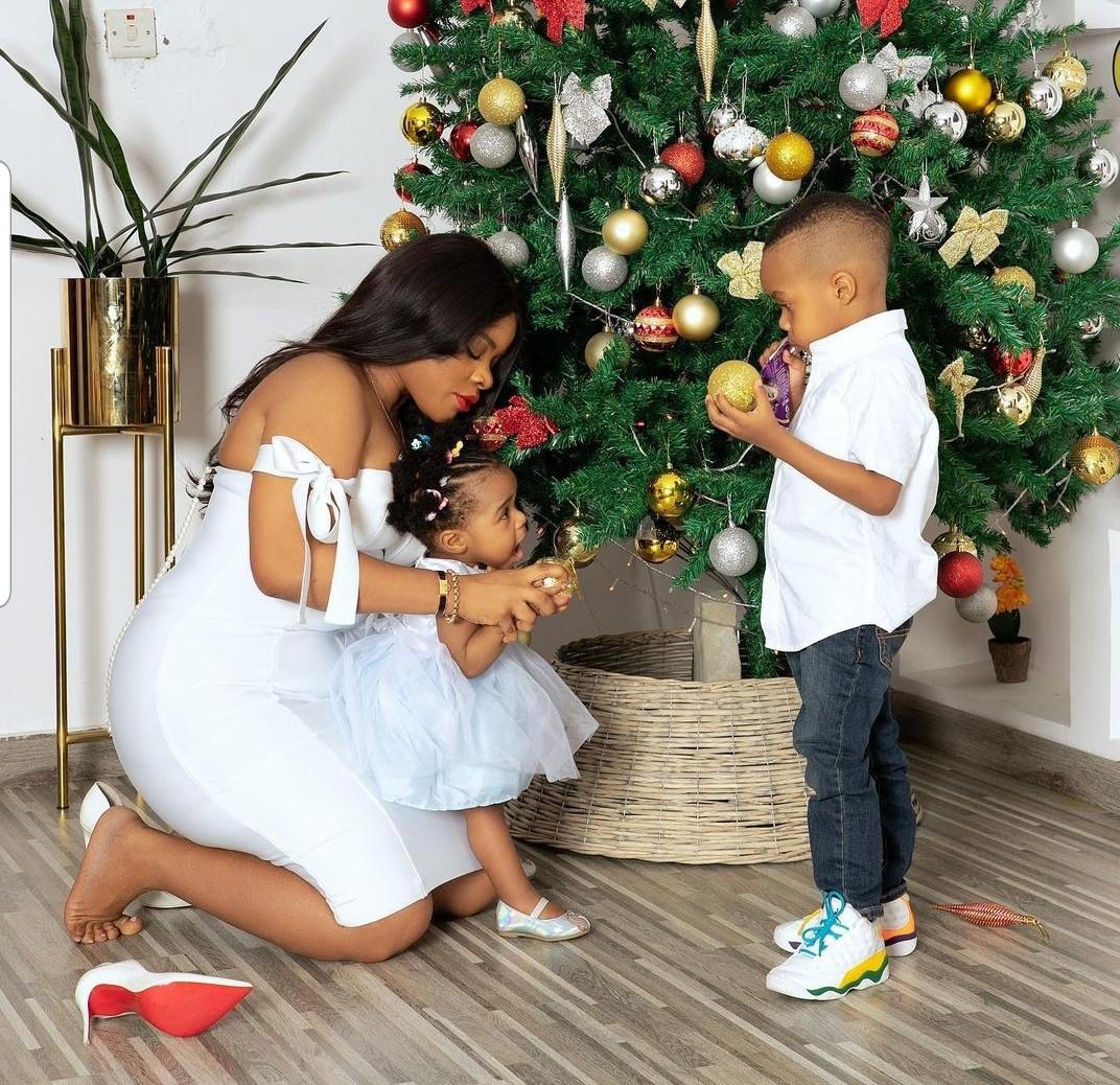 Beautiful Christmas photos of Laura Ikeji Kanu and her children