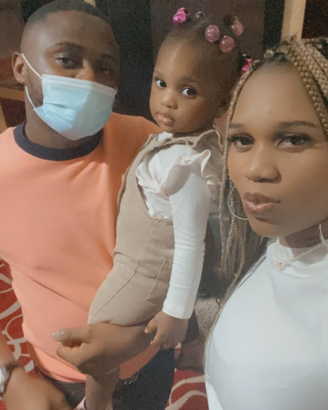 Ubi Franklin vacations in Dubai with his fourth child, Ariella and her mother, Sandra Iheuwa
