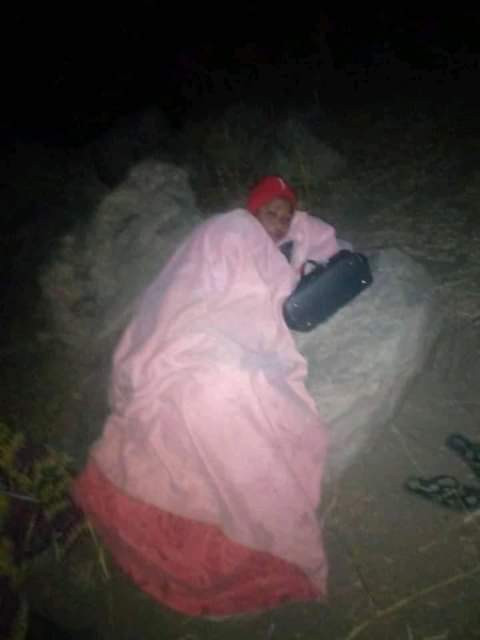 Photos of residents in the bush on Christmas Eve after fleeing Boko Haram attack in Adamawa town