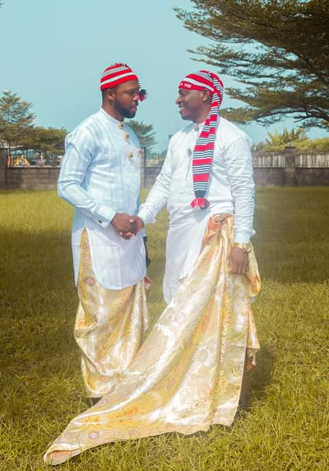 Groom wears traditional Efik attire for his church wedding in Akwa Ibom