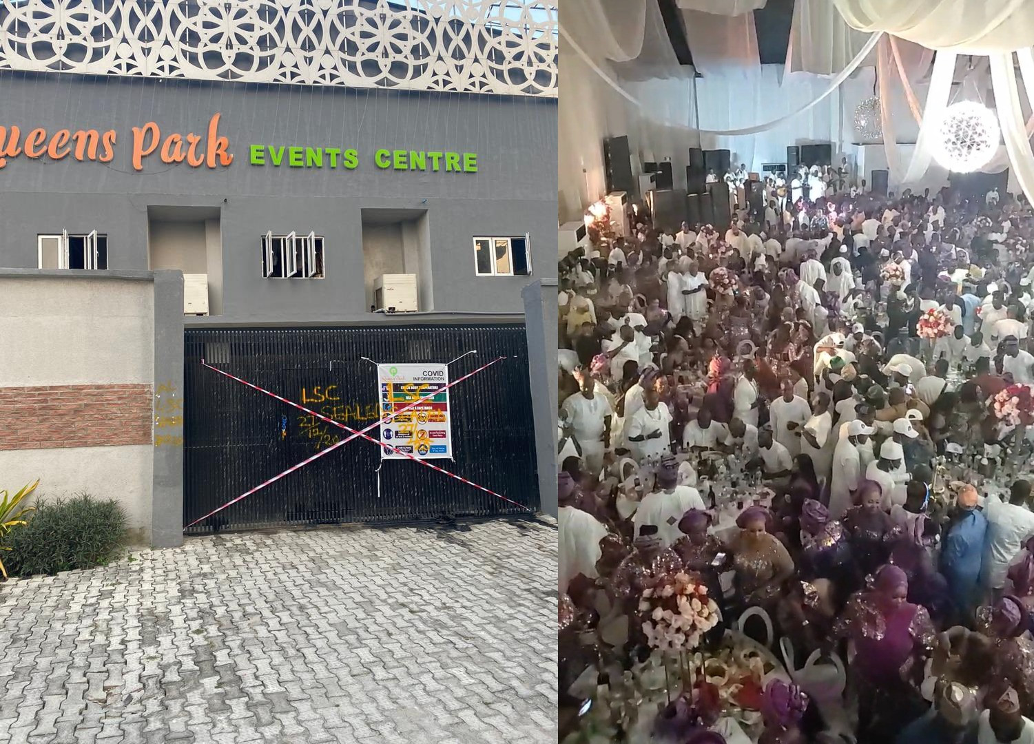 COVID19: Lagos shuts down Queens Park Event Centre and revokes its operating licence (photos/video)
