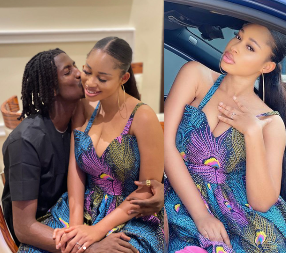 Nigerian footballer, Peter Olayinka gets engaged to Nollywood actress Yetunde Barnabas (photos)