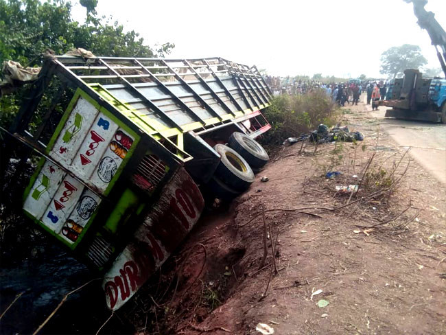 23 people killed after truck conveying humans and cows crashed in Niger state