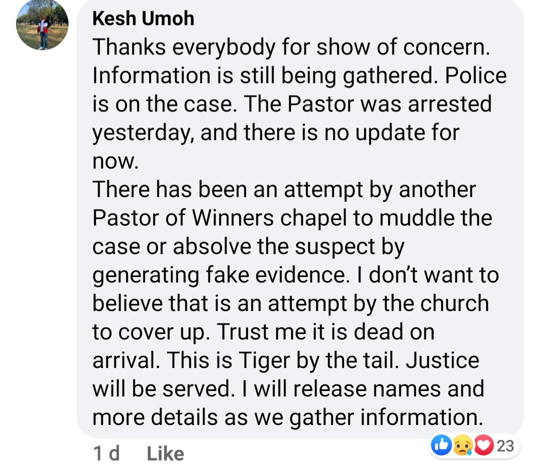 """Murder in the cathedral"" Family of UNIUYO final year student found dead in his apartment claim he was killed by a pastor he had a disagreement with"