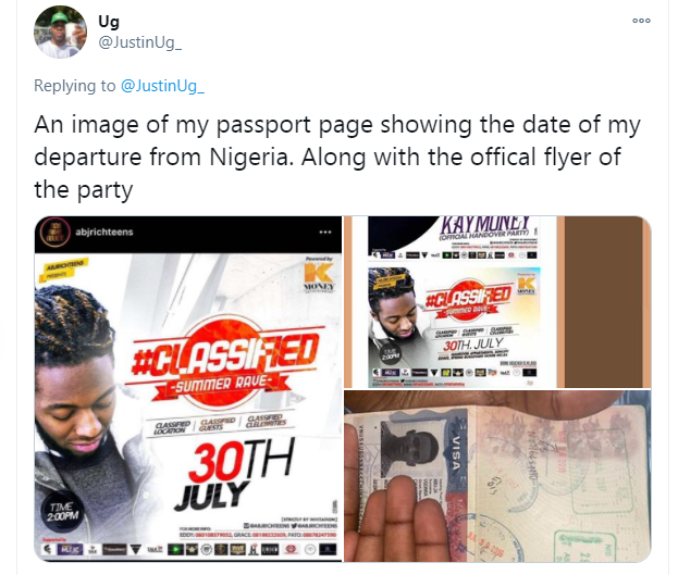 Nigerian comedian, Justin Ugonna shares more to prove that he was