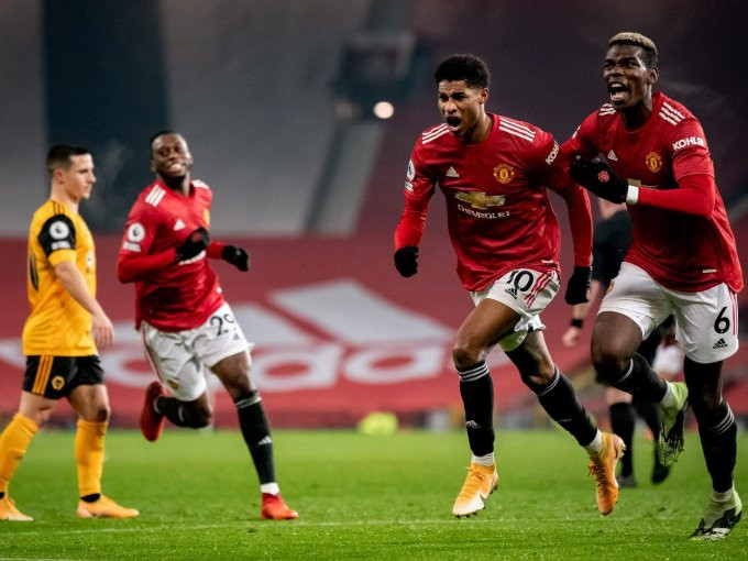 Man United 1-0 Wolves: Rashford to the rescue as United end 2020 in second spot
