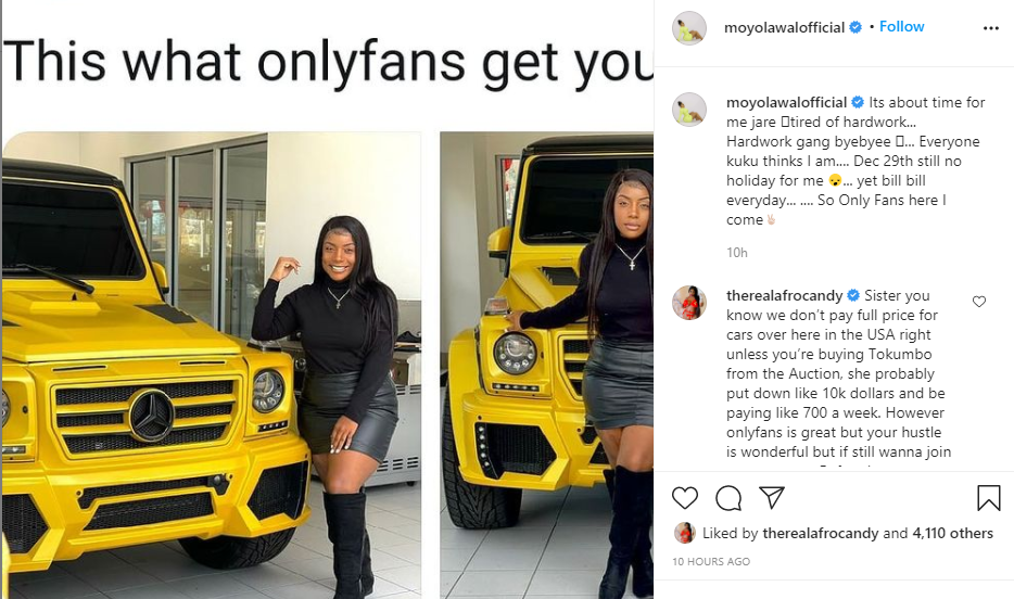 Actress Moyo Lawal hints on joining OnlyFans