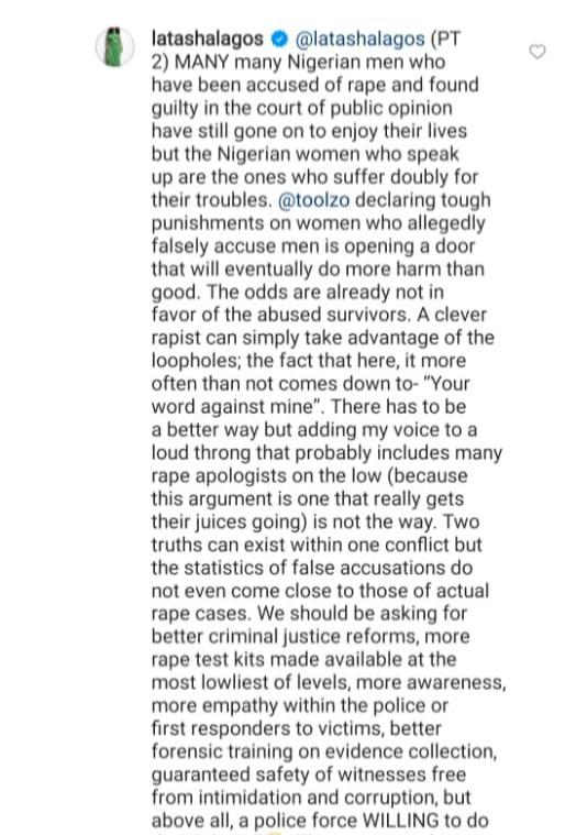 """False rape accusation doesn"