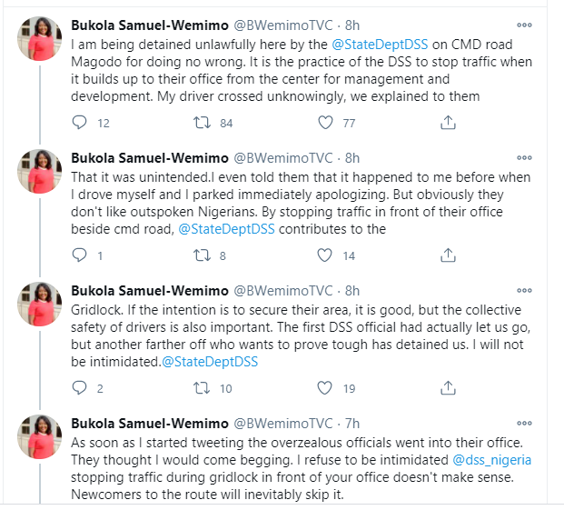 TVC journalist accuses DSS of unlawfully detaining her