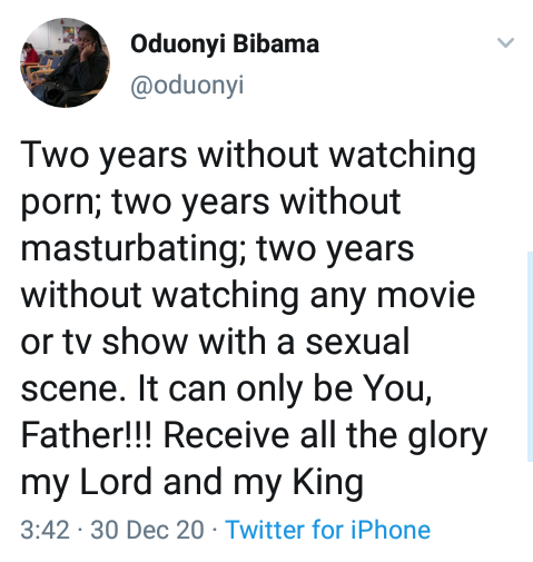 """Two years without masturbating, watching porn, movies and TV shows with sexual content"" - Married Nigerian woman celebrates keeping off sexual contents"
