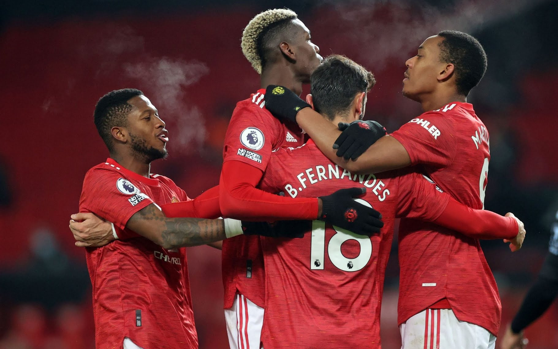 Man Utd go top of table, level on points with Liverpool after 2-1 win pulsating win over Aston Villa