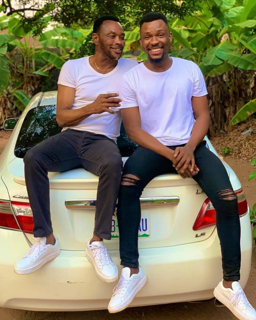 Media personality,  Hero Daniels, shares photos of himself and his father who could pass for his older brother