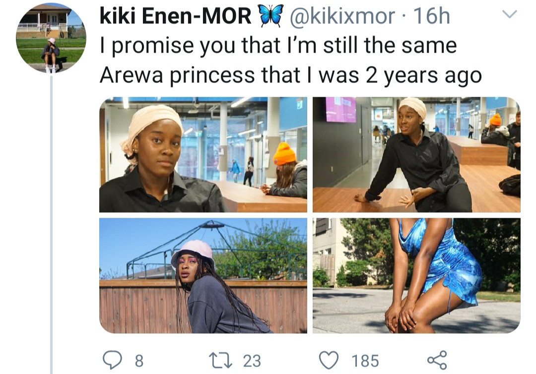 """Still the same Arewa princess"" Northern Nigerian woman says as she shows the change in her style after moving abroad"