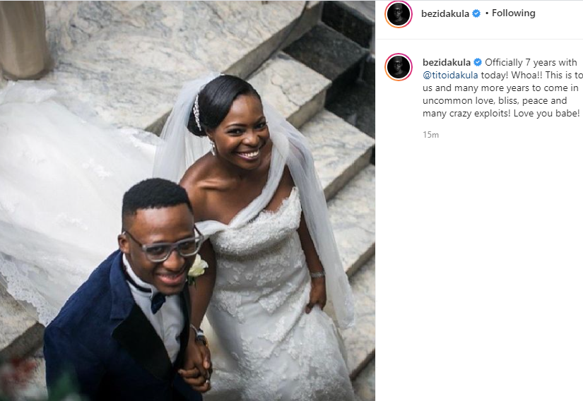 Singer Bez Idakula and wife Tito celebrate 7th wedding anniversary