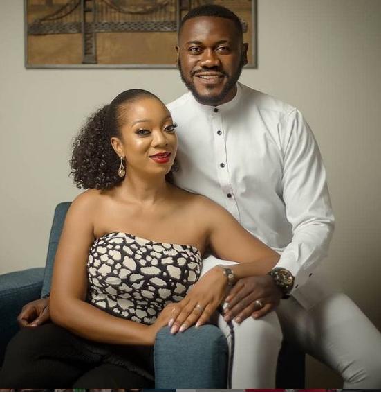 Nollywood actor Deyemi Okanlawon and wife Damilola celebrate their 8th wedding anniversary