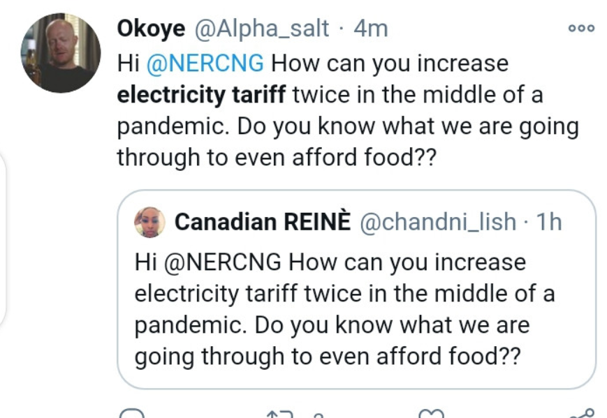 Nigerians lament on social media as FG increases electricity tariff