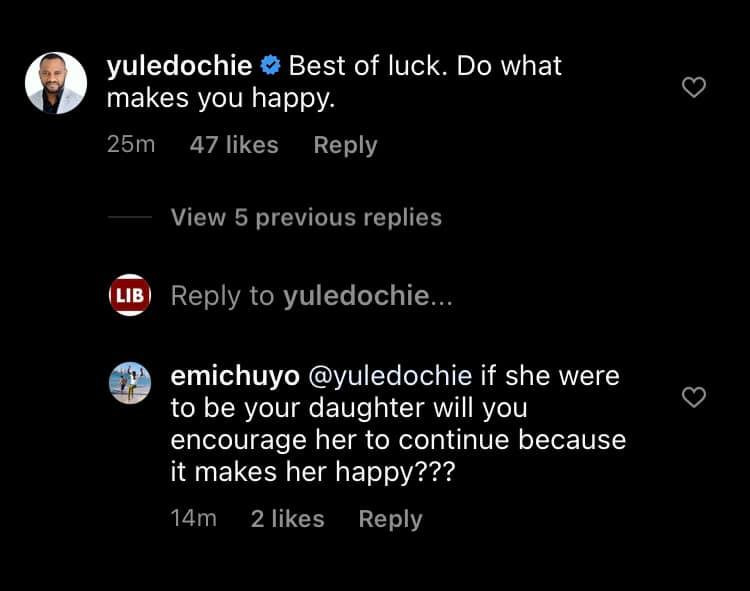 Once my daughter becomes an adult, she has the right to live her life the way she wants - Yul Edochie says after being queried for