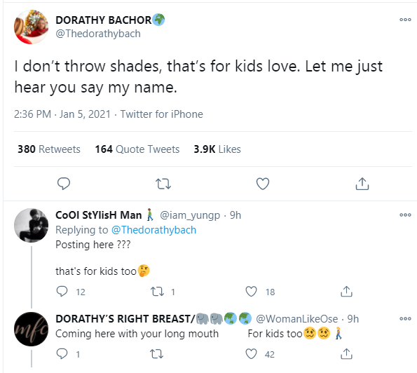 I don?t throw shades, that?s for kids - BBNaija