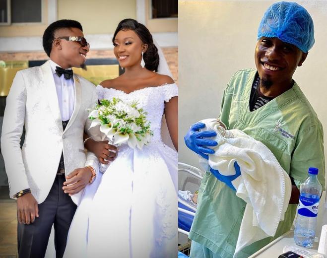 Nigerian comedian, Edo Pikin and wife Jojo welcome their first child, a boy?(photos)
