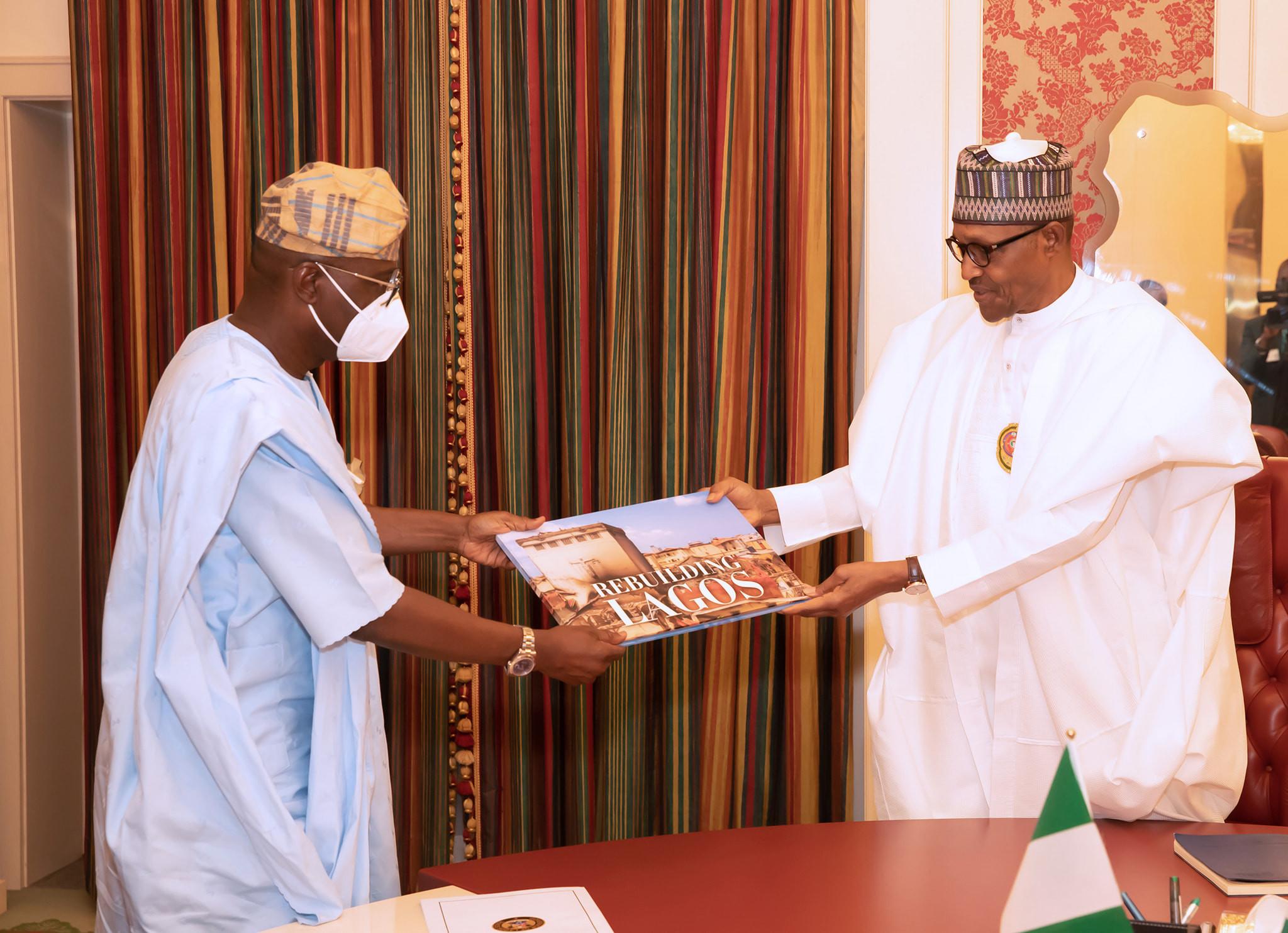 #EndSARS: Governor Sanwo-Olu meets President Buhari, says rebuilding of Lagos in progress