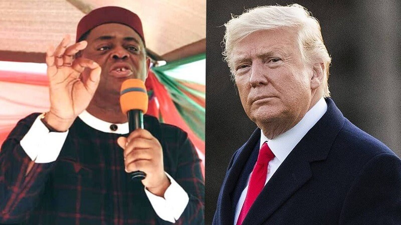 Before you condemn and criticise Trump and say he will go to jail, kindly consider your own pitiful condition- FFK tells Nigerians
