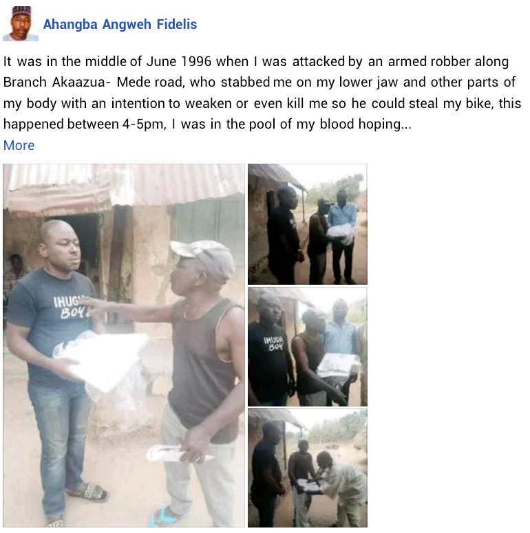 """""""I was in the pool of my blood hoping for help"""" - Nigerian man recalls as he reunites with man who saved his life after robbery attack 25 years ago"""